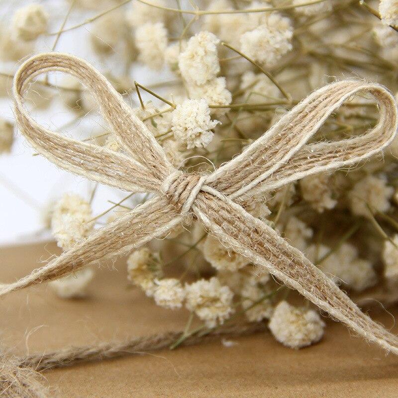 10M/rollo de yute arpillera rollos cinta de arpillera con encaje decoración Vintage rústica para boda ornamento fiesta Decoración de mesa de boda