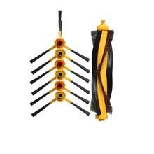 Brosse pour Ecovacs Deebot DT85 DT83 DM81 DM85 DT85G DE33 DD35 DR98 Robot aspirateur pièces 6x brosse latérale 1x brosse à rouleau principal