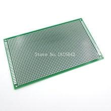Prototipo de placa de pan de 9x15cm, placa de pruebas Universal de doble cara de fibra de vidrio verde PCB, agujero de paso estándar 2,54mm sin soldadura, 9x15cm