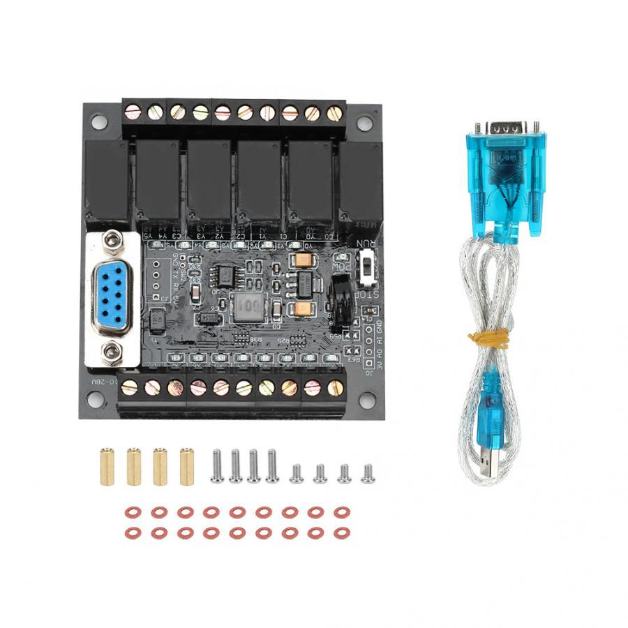 Controlador lógico programable, placa de Control Industrial PLC, 8 entradas, 6 salidas, controlador lógico programable, módulo de FX1N-10MT