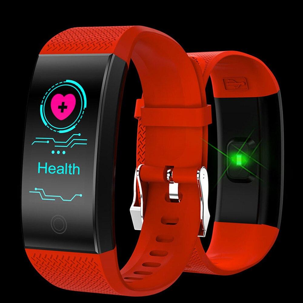 Смарт часы QW18 фитнес трекер кровяное давление Пульс Кислород умный Браслет