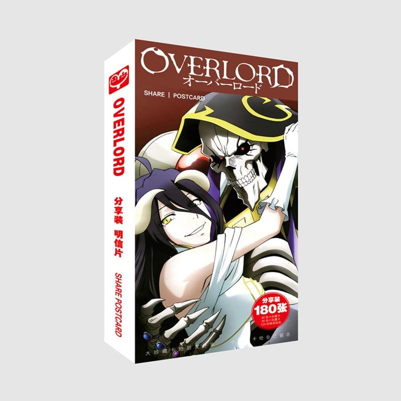Персонаж Аниме overlord 3 Ainz Ooal, платье Albedo Devil Fanart, 180 шт., почтовые карты, стикер, Artbook, брошюра, подарок, комплект для косплея