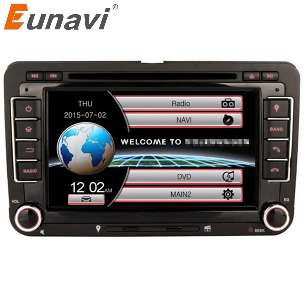 Reproductor DVD coche 2 Din Eunavi para VW GOLF POLO JETTA MK5 MK6 PASSAT B6 SKODA TOURAN con 3G USB GPS BT IPOD FM RDS mirror link swc