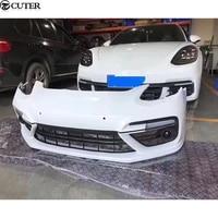 971 car body kit pp front bumper front lip for porsche 971 panamera turbo 2017