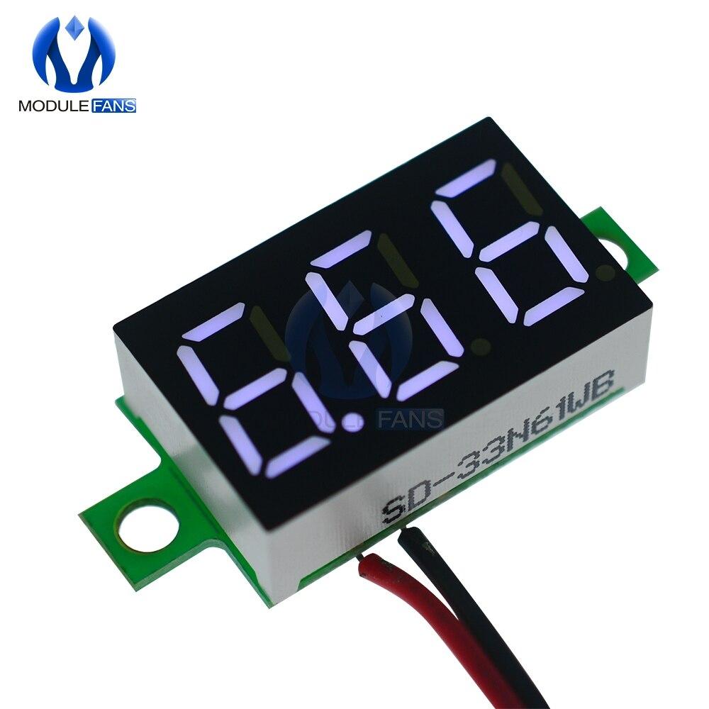 0,36 ''0,36 дюймов красный синий зеленый белый Мини цифровой светодиодный дисплей Вольтметр Панель измеритель напряжения дисплей Регулировка вольтметр