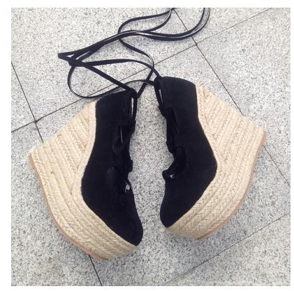 Flocado, zapatos de mujer con correa en el tobillo, zapatos de primavera otoño con cuña, zapatos de tacón para mujer, zapatos de tacón alto de 12CM con cordones, zapatos de vestir para chica elegante, zapatos de tacón