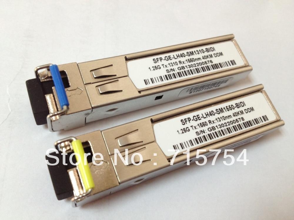 For CISCO,GLC-BX-D80/GLC-BX-U80, 1.25G,Singlemode,1490/1550 BIDI SFP , 1550 /1490nm,80KM,single LC connector