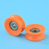 6*30*13mm Package plastic bearing wheel guide wheel M6 screw thread POM mute 30mm diameter 10mm guide rail