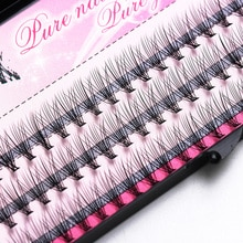 Moda 60 sztuk profesjonalny makijaż indywidualne klastra rzęs szczepienia fałszywe rzęsy makijaż naturalny ręcznie rzęs