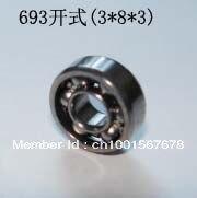 3000Pcs  Common Quality 693(3*8*3)OPEN  MINI bearings 693  3*8*3 ABEC-3 693 bearing  free shipping