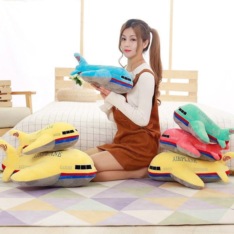 BABIQU 1pc 40 centímetros Bonito Simulação Avião Travesseiro Super Macia Almofada de Pelúcia Brinquedo de Pelúcia Voando Brinquedo Das Crianças Das Crianças Criativas presentes Kawaii