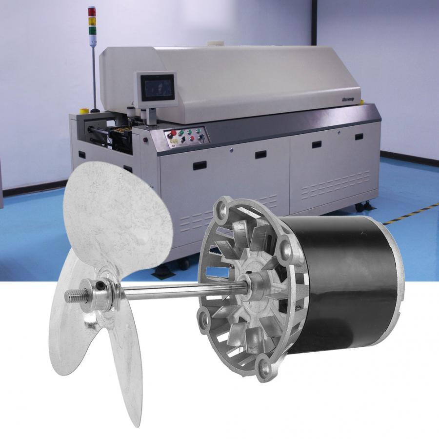 KL-45 220В 45 Вт длинный вал высокая температура двигателя с охлаждающим вентилятором DIY машинный аксессуар двигателя