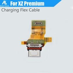 Usb-разъем Type-c, зарядный порт, гибкий кабель для Sony Xperia XZ Premium XZP G8142, быстрая доставка