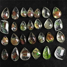 Natürliche Stein Geist Phantom Quarz Kristall Edelstein Probe Healing Stein Anhänger Schönes Geschenk Für Stein Sammlung Länge 1,5-2 cm