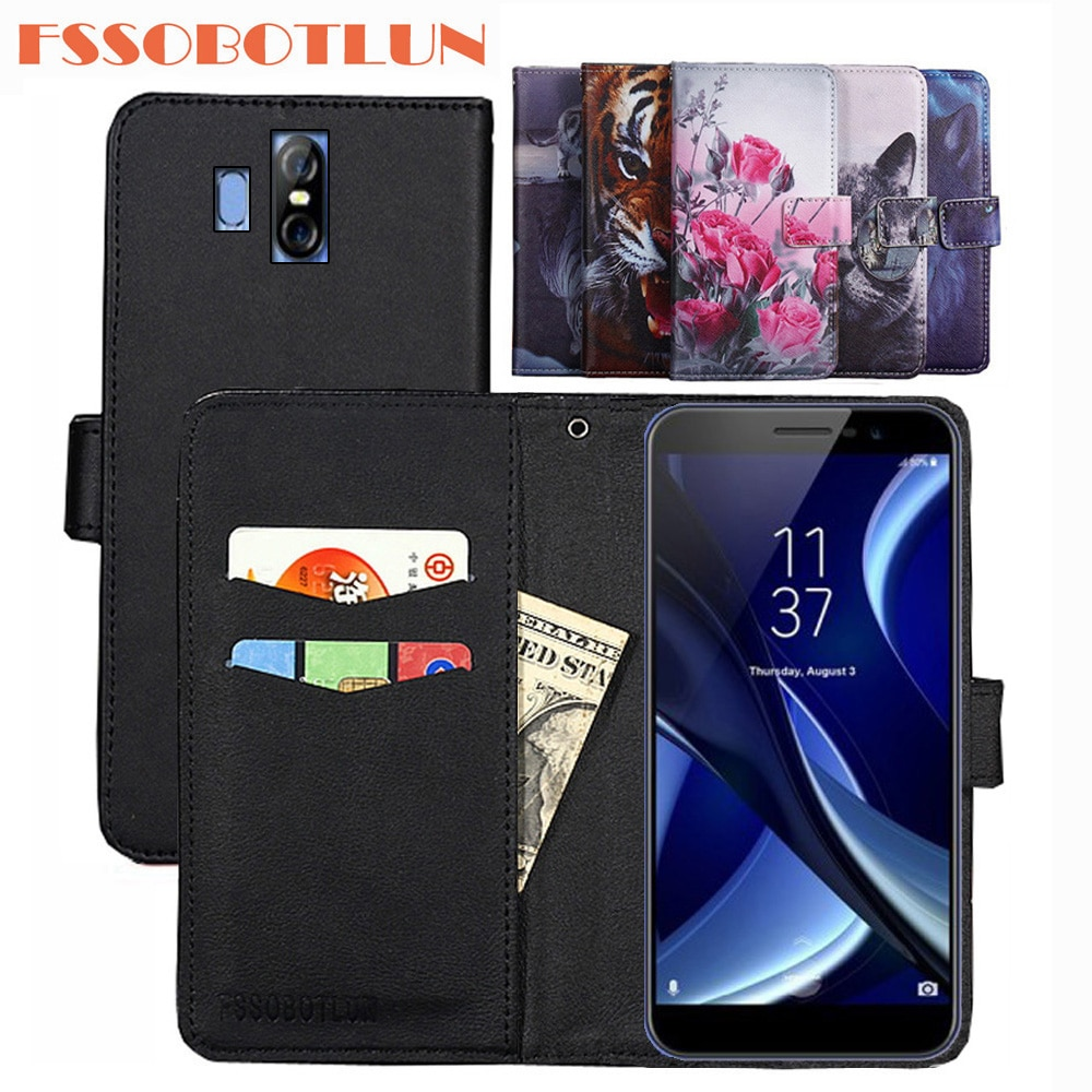 FSSOBOTLUN For HomTom R17 Case PU Leather Retro Flip Cover Shell Magnetic Fashion Wallet phone Cases