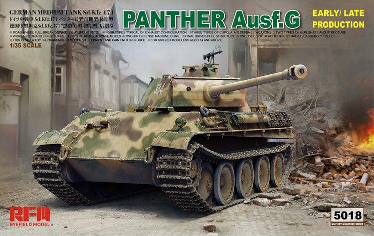 Żyta pola RFM RM-5018 1/35 niemiecki pantera Ausf. G skali