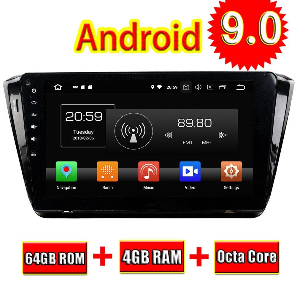 Unidad Principal de coche TOPNAVI Android 9,0 radio estéreo con navegación GPS para Skoda Superb 2015 autorradio audio estéreo SIN DVD dos Din 4 + 64GB