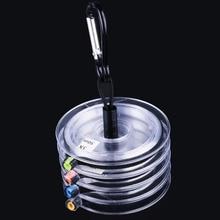 Maximumcatch bobines Tippet ligne (2X, 3X, 4X, 5X, 6X, 7X) clair pêche à la mouche Tippet ligne avec porte-animal de compagnie et bobine tendre