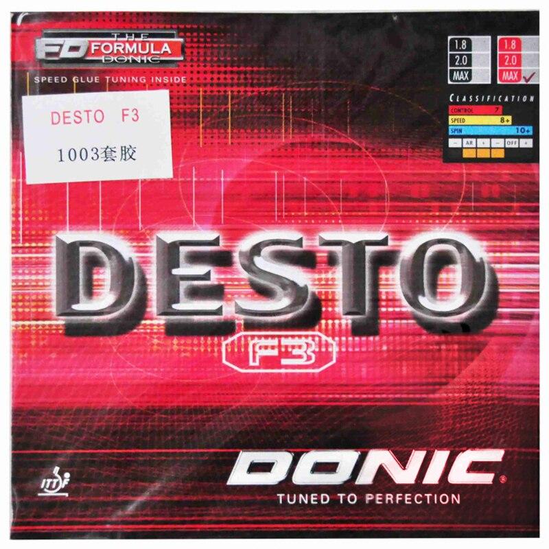 Доник F3 DESTO Настольный теннис резиновая быстро атака контроль прыщи с губкой пинг понг теннис де меса