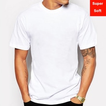 Man Zomer Super Zachte Witte T Shirts Mannen Korte Mouw Katoenen Modale Flexibele T-shirt Wit Kleur Size Basic Casual Tee shirt Tops