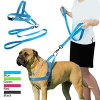 Светоотражающая шлейка для собак, не тянется, комплект из жилета и поводка для маленьких и больших питомцев, идеально подходит для ежедневн...
