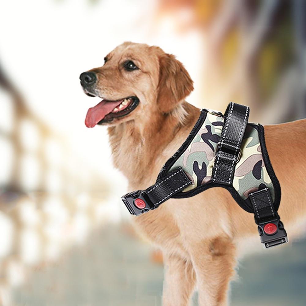 Поводок для собак без тяги из сетчатой ткани, мягкий дышащий жилет для прогулок для домашних животных, легкий Регулируемый ремень для безопасности