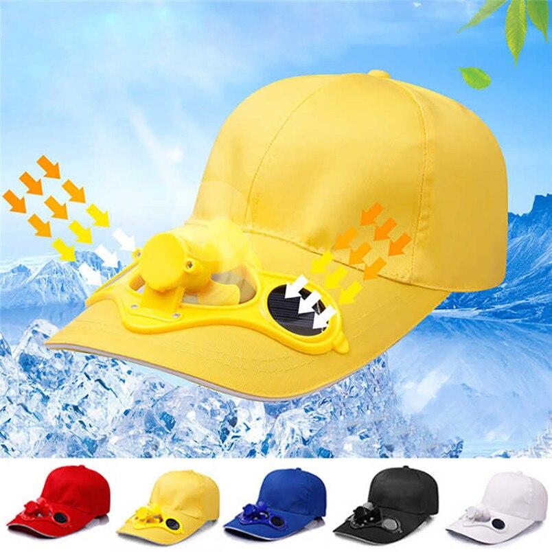 Gorra de beisbol de verano para hombre y mujer, gorra de acampada y senderismo con ventilador Solar, gorra de béisbol, gorra de abanico informal con refrigeración F # L26