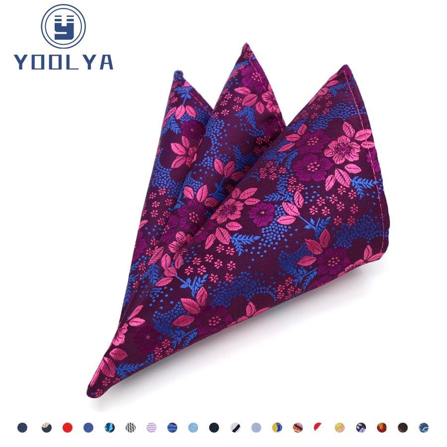 Pañuelo de seda de lujo para hombre pañuelo Floral Jacquard tejido bolsillo cuadrado 25*25cm Toalla de pecho para hombre boda fiesta