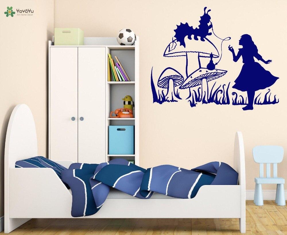 YOYOYU calcomanía de vinilo para pared cuento de hadas Fairyland chica Animal planta conversación sala de adolescentes decoración del hogar pegatinas FD149