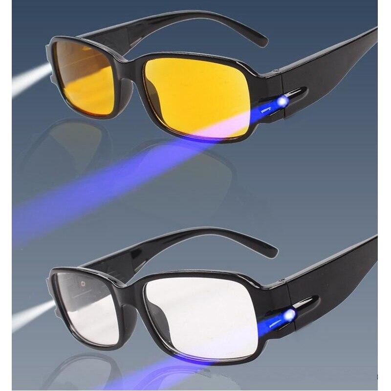 Gafas de lectura LED baratas con iluminación, protección magnética ajustable para la salud, gafas perezosas, presbicia, dioptría lesebrille