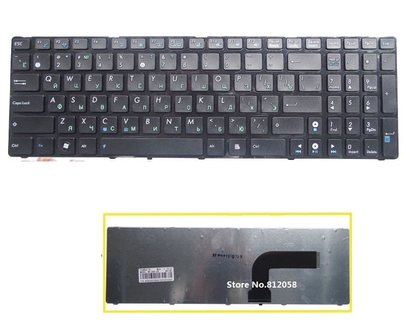 SSEA nueva RU teclado para ASUS X53 X54H k53 A53 N53 N60 N61 N71 N73S N73J P52 P52F P53S X53S A52J X55V X54C teclado ruso