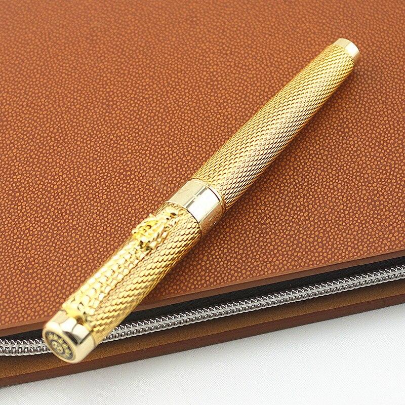 De alta calidad, este diseño de dragón pluma fuente de la marca de lujo de oficina de negocios escribir bolígrafos para la escuela estudiante papelería