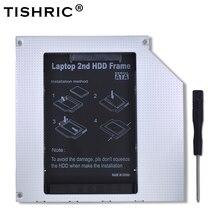 "TISHRIC алюминиевый Универсальный байде для SATA 3,0 2nd HDD Caddy 9,5 мм 2,5 ""SSD корпус HDD корпус для ноутбука ODD CD DVD ROM Оптический"
