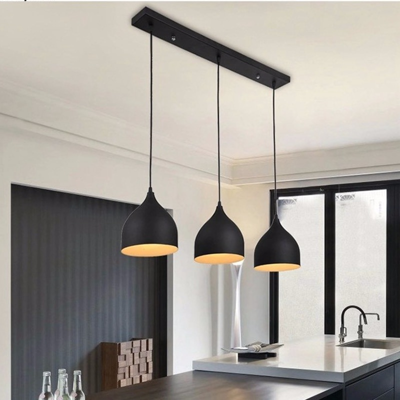 LukLoy-مصباح سقف معدني معلق LED ، تصميم حديث ، إضاءة داخلية زخرفية ، مثالي لغرفة الطعام ، المطعم ، المطبخ ، الجزيرة