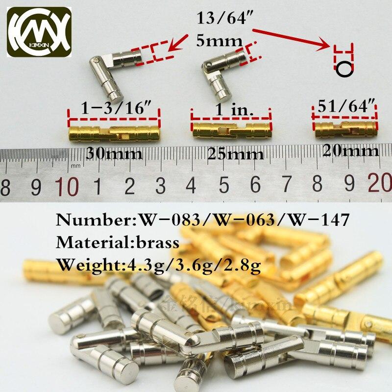 35 Uds. CH5 * 30mm bisagra de barril miniatura caja de joyería bisagras y caja para joyas equipo caja de madera bisagra cilíndrica inserto oculto