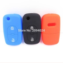 Silicone Car Key Fob Cover Case For Audi A2 A3 A4 A6 A8 TT 2Button Remote Key Case For Car Audi Inte