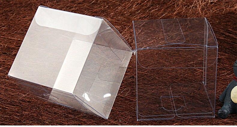 صناديق بلاستيكية شفافة من الكلوريد متعدد الفينيل 6*6*6 سنتيمتر ، 1000 قطعة ، عبوة عرض للشوكولاتة ، علبة شفافة