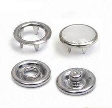50 ensembles boutons pression en métal 4 boutons en partie #111/#222 #333 8mm/10mm/12mm blanc perle broche bouton pression attache nickel FP-020