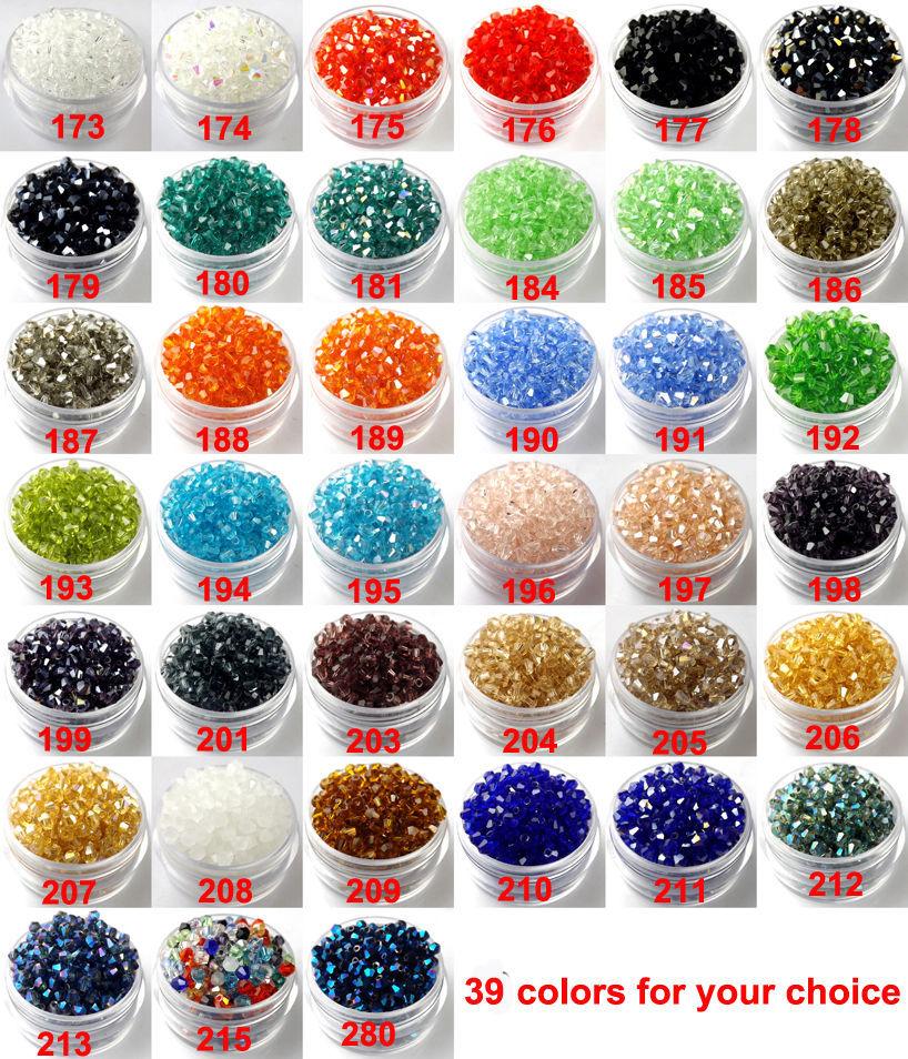 Qualidade superior 3mm 100 pçs aaa bicone upscale cristais austríacos grânulos solto bola fornecimento ab cor chapeamento jóias fazendo diy