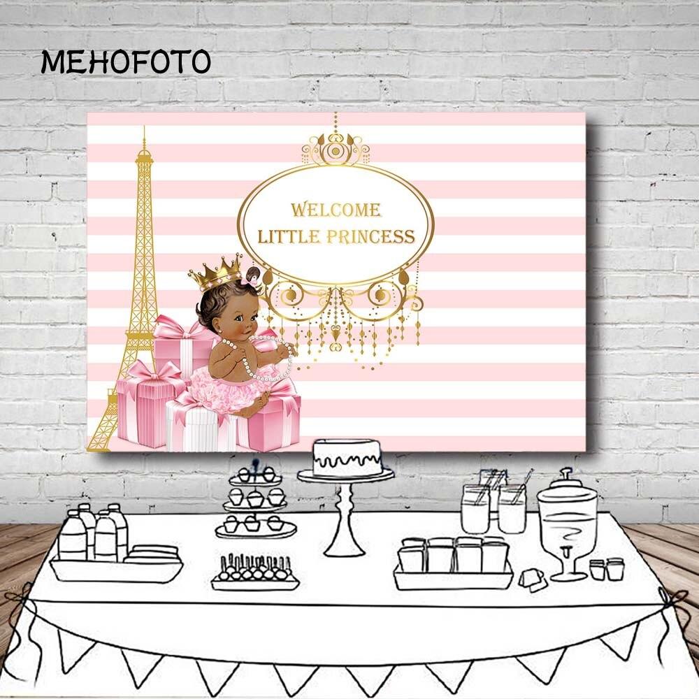 Виниловый фон для фотосъемки с изображением розового цвета в полоску Эйфелевой