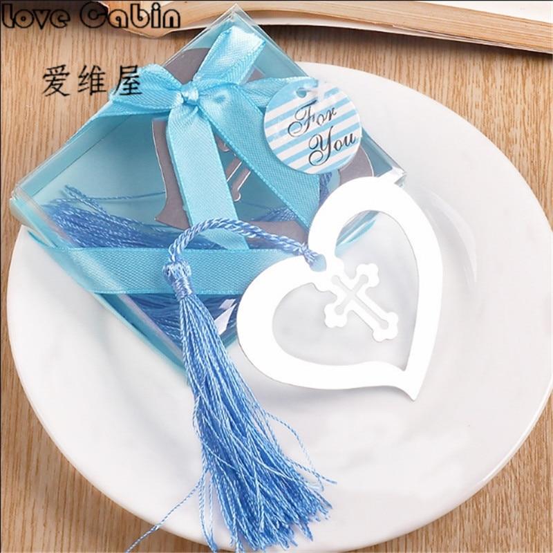 Corazón flor Metal marcapáginas corazón marcapáginas para los niños fiesta Favor Giveaway Baby Shower Souvenirs boda Favour y regalo para el invitado