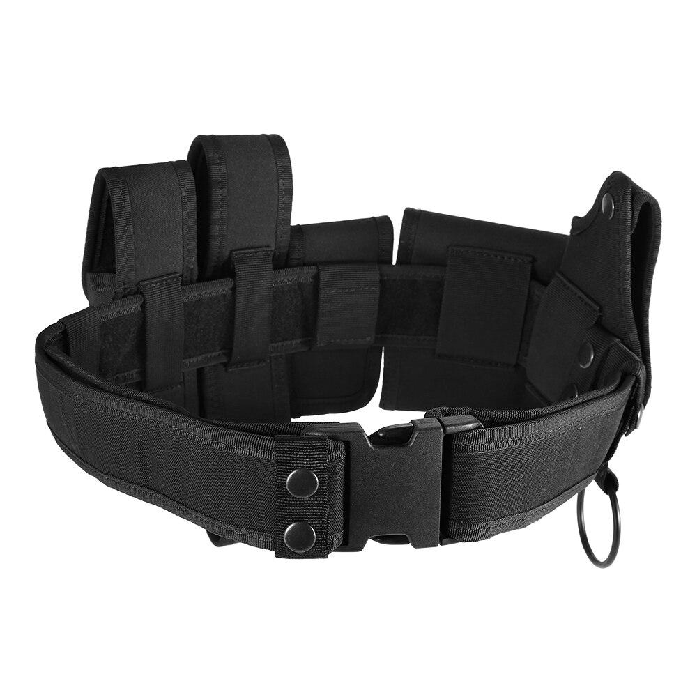 Lixada, cinturón táctico para exteriores, para aplicación de la ley, cinturón de servicio militar de seguridad Modular con bolsas, equipo de pistolera