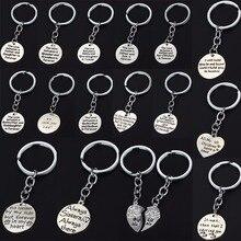 Mère maman soeur Sis nounou porte-clés famille cadeaux coeur porte-clés pendentif empreinte de lune porte-clés charme bijoux voiture sacs porte-clés