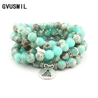 fashion design howlite natural stone bracelet 108 beads wrap bracelet or high quality bracelet