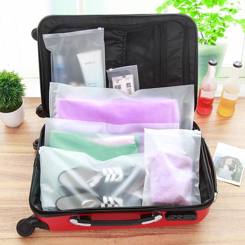 1 шт. пластиковая прозрачная сумка для хранения, водонепроницаемая дорожная сумка для обуви для макияжа, органайзер для хранения ткани, 7 раз...