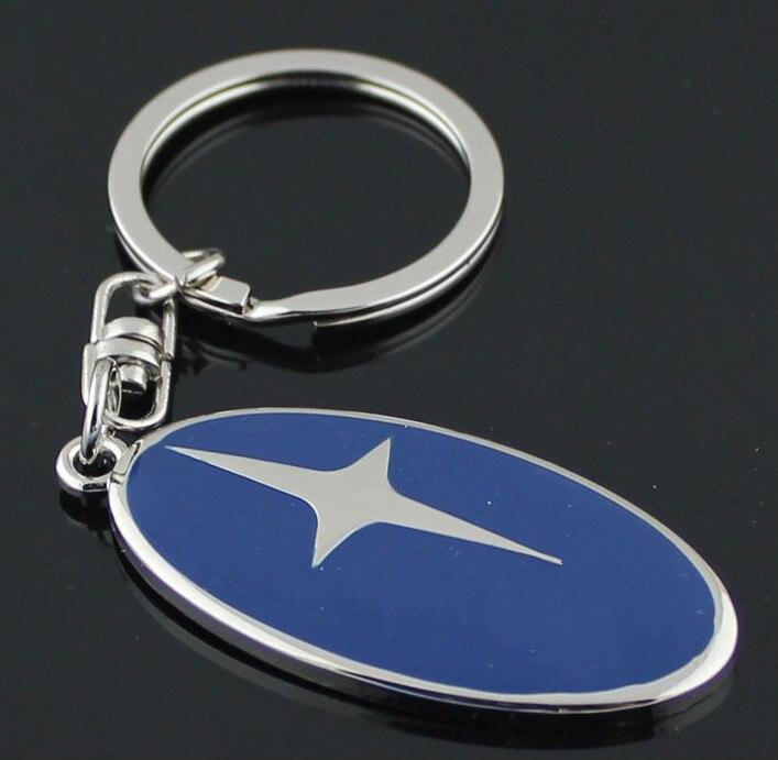 2019 Fashion Current men and women car logo metal waist keychain key ring pendant For BMW Benz Audi Subaru Ford logo