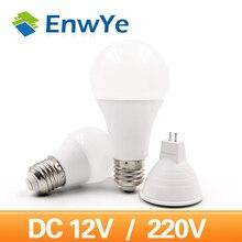 EnwYe Светодиодная лампа с чашкой MR16 6 Вт E27 Светодиодная лампа 6 Вт 9 Вт 12 Вт 15 Вт 220 В Светодиодная лампа Энергосберегающая лампа DC 12 В Светодиодная лампа
