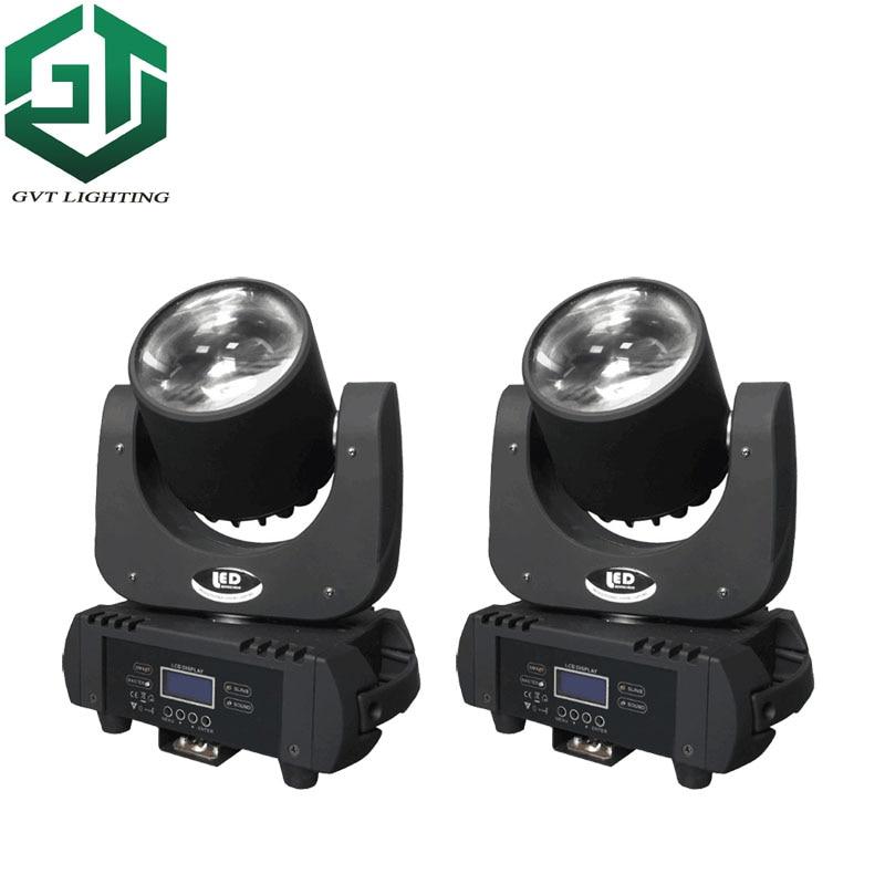 2 unids/lote 60w led viga foco con cabezal móvil lámparas con cabezales móviles 60w super brillante LED DJ foco DMX control de iluminación de escenario