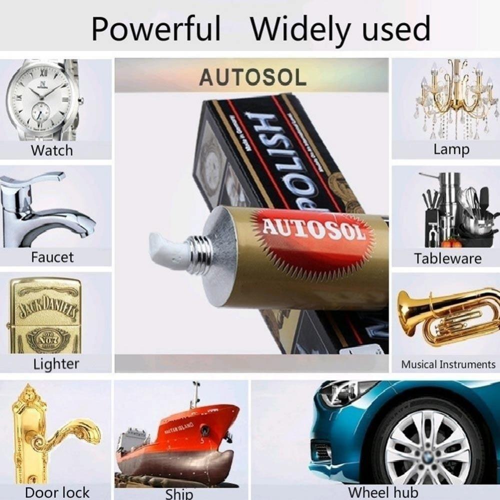 1pc 75ml 100g Cera lucidante Autosol per specchi e metallo, pasta - Abrasivi - Fotografia 3