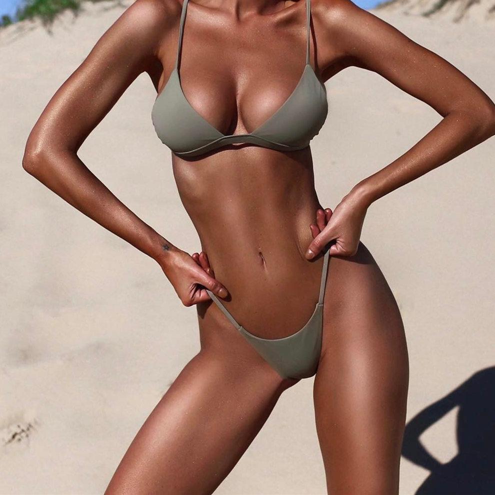 Bikini Sexy Melphieer 2018 para playa, traje de baño para mujer, traje de baño, Bikini brasileño, conjunto de Bikini femenino 2018